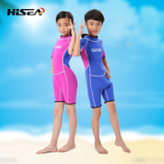 New children short sleeve Siamese diving suit surfing fast dry swimming jellyfish clothing sun-warming snorkeling