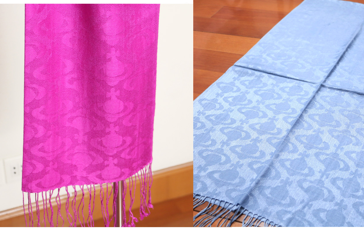 Woven solid pattern! Saturn in Europe and the UK! Silk cashmere long scarf women spring autumn and winter export to Japan