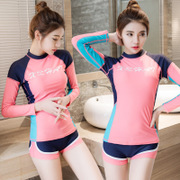 2017 Korean diving suits, women's split long sleeve sun suits, pants, jellyfish suits, snorkeling, surfing, yoga sets