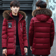 2017 new Android in the long thick winter coat young Korean cultivating season men's winter tide