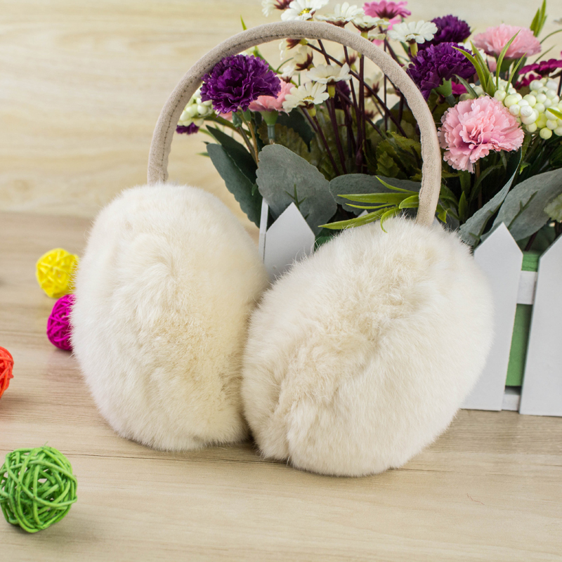 2015 winter warm warm earmuffs 100% rabbit fur earmuffs han edition really hairy fur ear cover their ears warm ear package mail