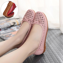 2017 Baotou summer sandals hollow Crocs casual shoes with soft bottom flat shallow mouth shoe Doug pregnant mother