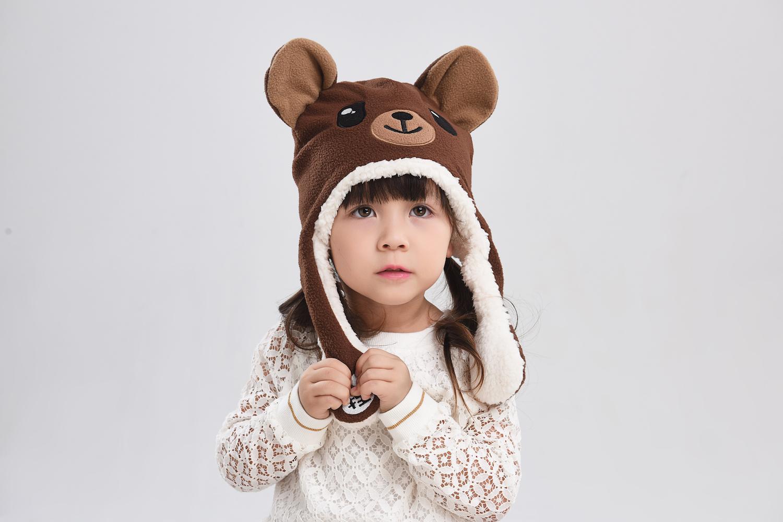 2017冬季耳朵会动的帽子竖耳棕熊可爱搞怪男女包邮加绒保暖护耳帽