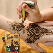 Tattoo tattoo artifact durable waterproof and semi permanent henna tattoo paste template simulation package
