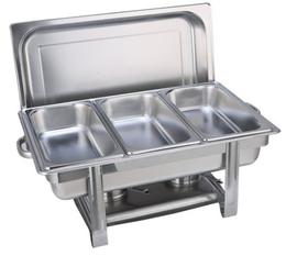 促销 加厚不锈钢方形揭盖自助餐炉 保温加热布菲炉可电热自助餐具