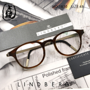 New products Lindbergh hand horn glasses frame round frame male $number H18 10