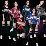 Coke new dance sequined stage jazz dance cheerleading hip-hop trend leisure clothing clothing costumes