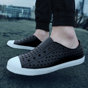Summer round head couples anti-slip leisure hole shoes Baotou beach shoes men Sandals Personality Sports Ventilation