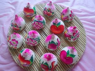山东胶东传统纯手工花样饽饽 生日百岁喜宴寿桃花样馒头 面食礼品图片