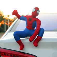 Creative decorations doll Spiderman rear roof decoration car external appearance of a cartoon funny personality doll