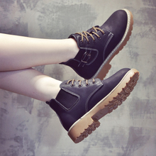 2017 new autumn and winter Martin boots female British style Korean all-match plus Suede Shoe children Chelsea boots women shoes