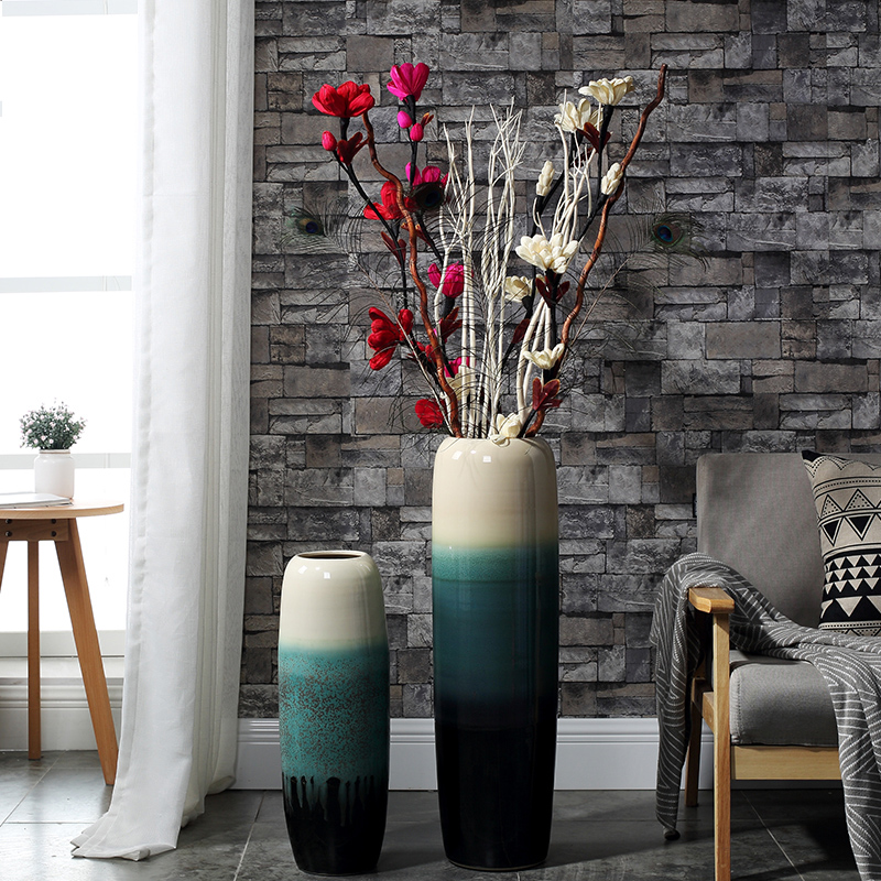 34 23 North European And American Style High End Living Room Ceramics Floor Vase Dried Flower Simulation Flower Arranging Net Red Hotel Decoration Suit Large Size From Best Taobao Agent Taobao International International Ecommerce Newbecca Com