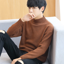 Korean men half winter sweater turtleneck thick warm sweater sweater shirt coat tide personality
