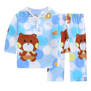 Summer children cotton clothing Home Furnishing boys and Girls Summer Baby Boys Suit bourette thin long sleeved pajamas