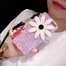 Daisy HUAWEI glory 5x mobile phone shell mate8/4x liquid crystal sand P9 soft protective sleeve lanyard female tide