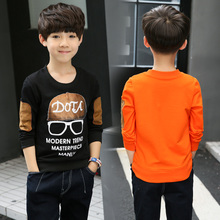 The boy long sleeved T-shirt 2017 new spring coat 15 Korean tide children 10-12 pupils, 13 year old boy