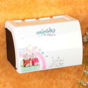 The bathroom toilet paper towel box carton carton plastic bathroom toilet paper rack waterproof free punch special offer