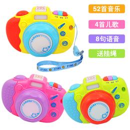 仿真照相机玩具 带音乐儿歌灯光快门声 宝宝早教益智玩具儿童礼物