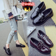 2017 new shoes. All-match small leather shoes British Wind autumn loafer student Harajuku flat shoes