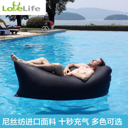 LoveLife portable inflatable sofa bed outdoor lazy sofa pocket air sleeping bag bed