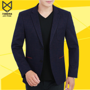 The fall of the new men's small suit men s Casual Jacket Mens Shirt Small west single middle-aged man in a suit