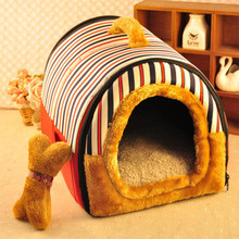 If the cat litter Teddy kennel detachable small dog medium dog Bichon thickened pet nest warm winter house