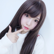 SIXTWOTWO Japanese girls face received long hair natural color simulation scalp wig