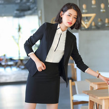 Small suit female jacket spring and summer professional suit jacket thin section interview dress black Korean Slim overalls