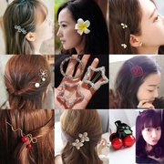 South Korea female head jewelry diamond hairpin Liu Haijia retro Mori cherry clip grab card on the Korean version of the hair