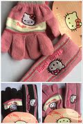 A25 children's lovely gloves hair band two piece (2-10 years)