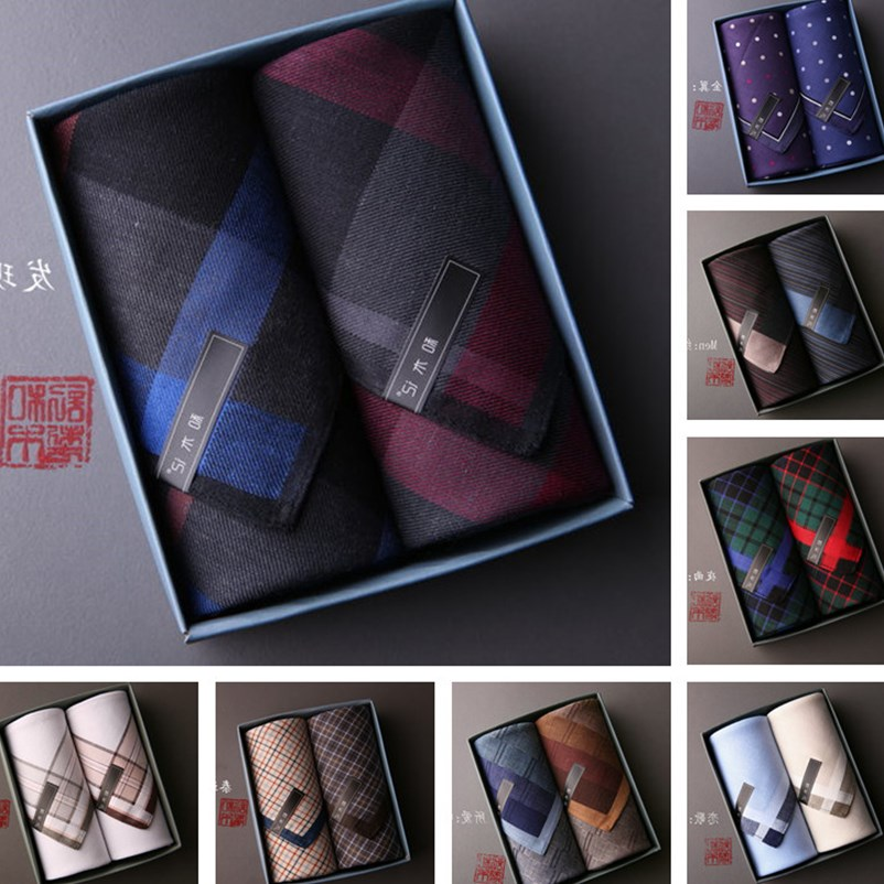 Men and wood (man) a handkerchief Handkerchief made of pure cotton Square absorbent 520 gift