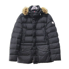 [9.8 new alliance Moncler black nylon cloth Lai Man