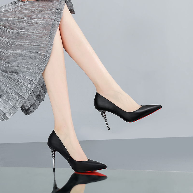 A fine with small black code sets foot high heels female all-match spring shoes super sexy white high-heeled shoes wedding etiquette