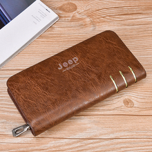 Retro Long Wallet Mobile Phone Wallet Handbag with male young male casual and simple new zipper wallet