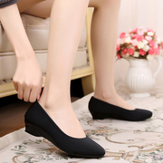 Old Beijing shoes, shoes, black work shoes with a comfortable slope shoes, comfortable shoes, non-slip shoes, soft shoes, mother shoes