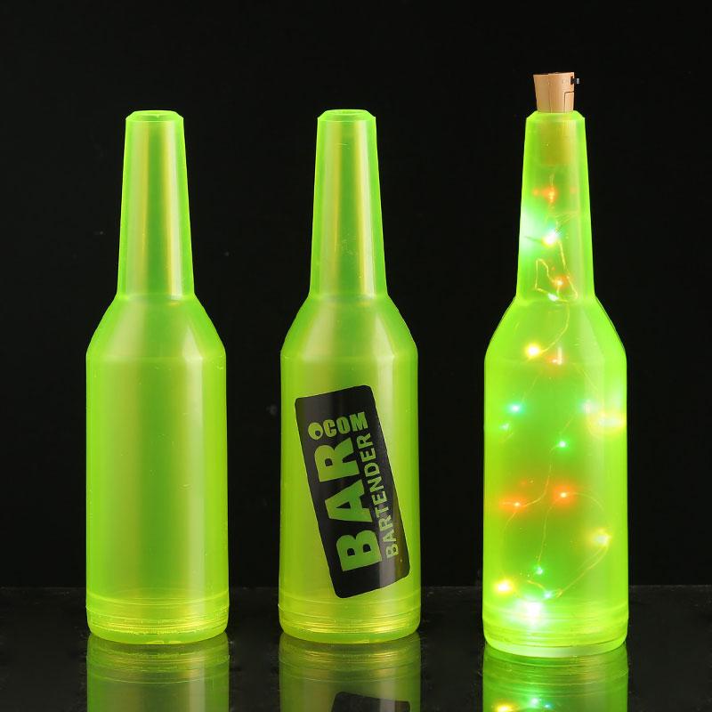 荧光练习瓶 发光塑料酒樽 练功花式调酒 创意调酒表演瓶 酒吧抛瓶