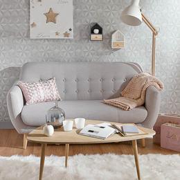 北欧布艺沙发简约风格现代小户型日式田园单人双人三人位小型组合