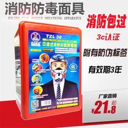 兴安消防 火灾逃生面具国标过滤式自救呼吸器口罩面罩防毒防烟防