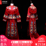 Suzhou Embroidery Family 2017 new bride show wo dress wedding toast dress wedding gown Fengong