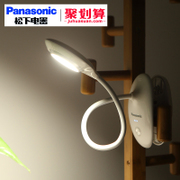 Panasonic lamp eye protection LED desk clip charging student dormitory students children bedroom bedside reading