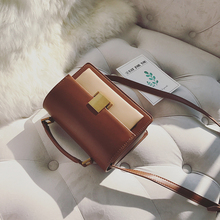 LOSEA color lock small Satchel Bag 2017 new female pure Vintage Handbag Shoulder Bag
