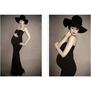 Pregnant women as pictorial photography clothing black elastic skirt studio 2017 new maternity pregnancy mommy photo clothes