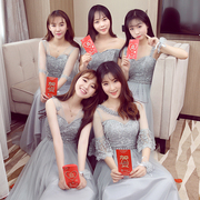 Bridesmaid Dresses long 2017 new Korean sisters bridesmaid dresses evening dress small banquet graduation party