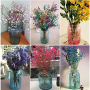 European Mediterranean color transparent glass vase simple pastoral style decoration flower vase creative culture room