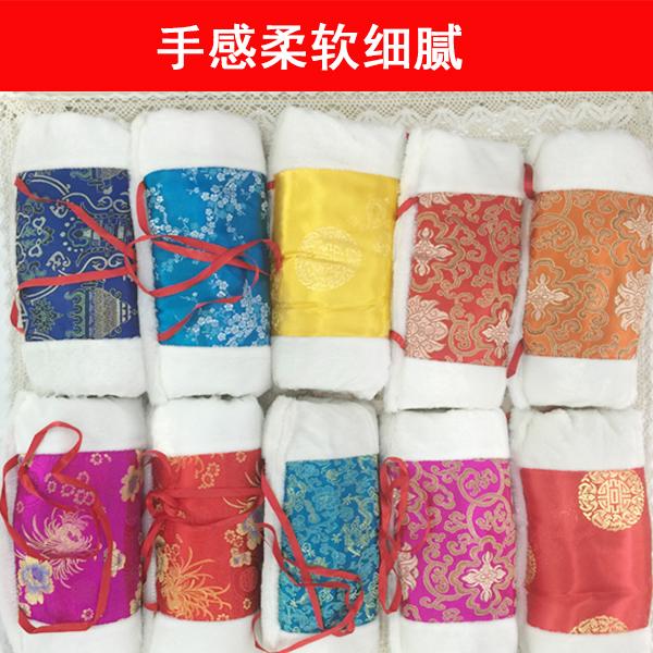 绸缎面料暖手筒防冻保暖加厚暖手宝毛绒暖手捂子中国风民族风礼物