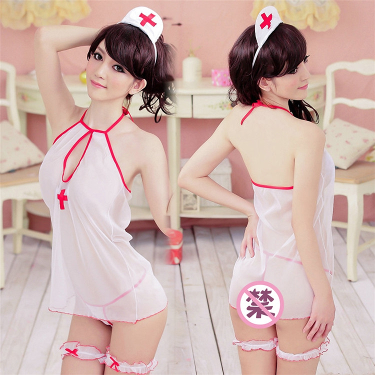 Sex toys sexy nurse uniform transparent underwear couples passion play game 4 suit sm SAO wave of love