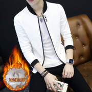 Autumn and winter of 2017 new men's jacket and cashmere coat Korean male fashion thickened leisure slim handsome clothes