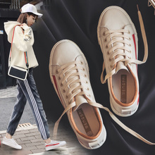 Small white shoes, new 2018 spring in the Korean version of the red wild thick-soled nubuck women's shoes single shoes casual