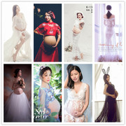 A pregnant woman clothing 2017 new fashionable clothes pregnantmammy artistic photos portrait clothing for pregnant women
