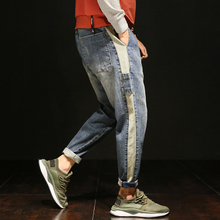 The fall of Haren black stretch pants men loose jeans pants size young Japanese men pants tide